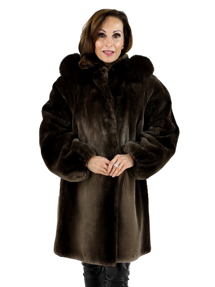Woman's Phantom Sheared Beaver Fur Parka