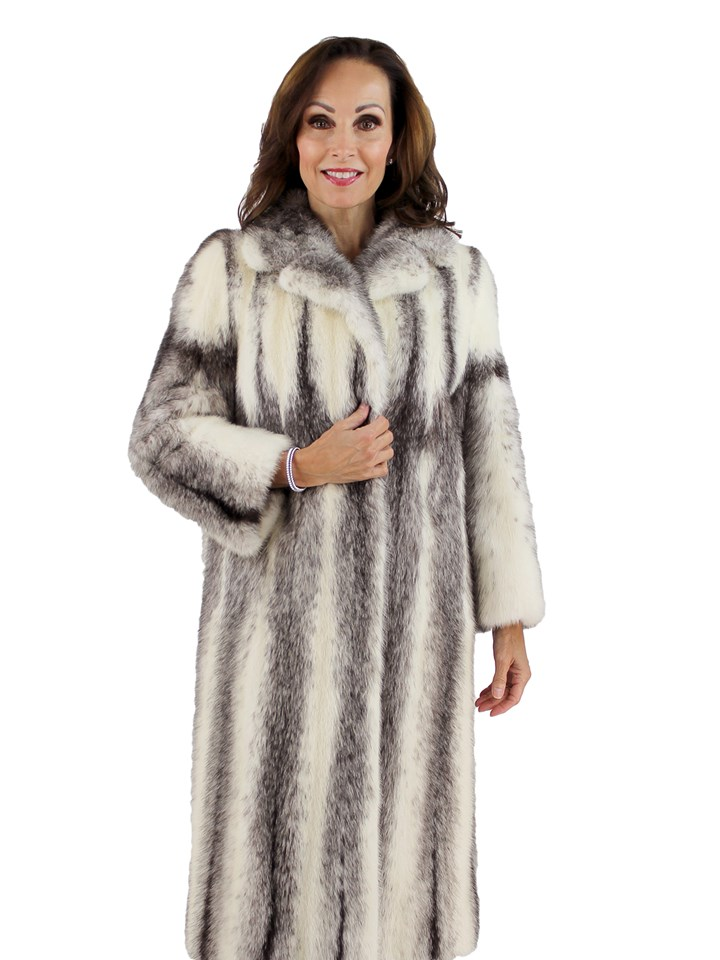 Woman's Cross Mink Fur Coat