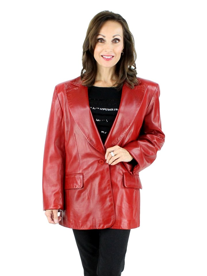 Ultra Soft Lambskin Red Blazer