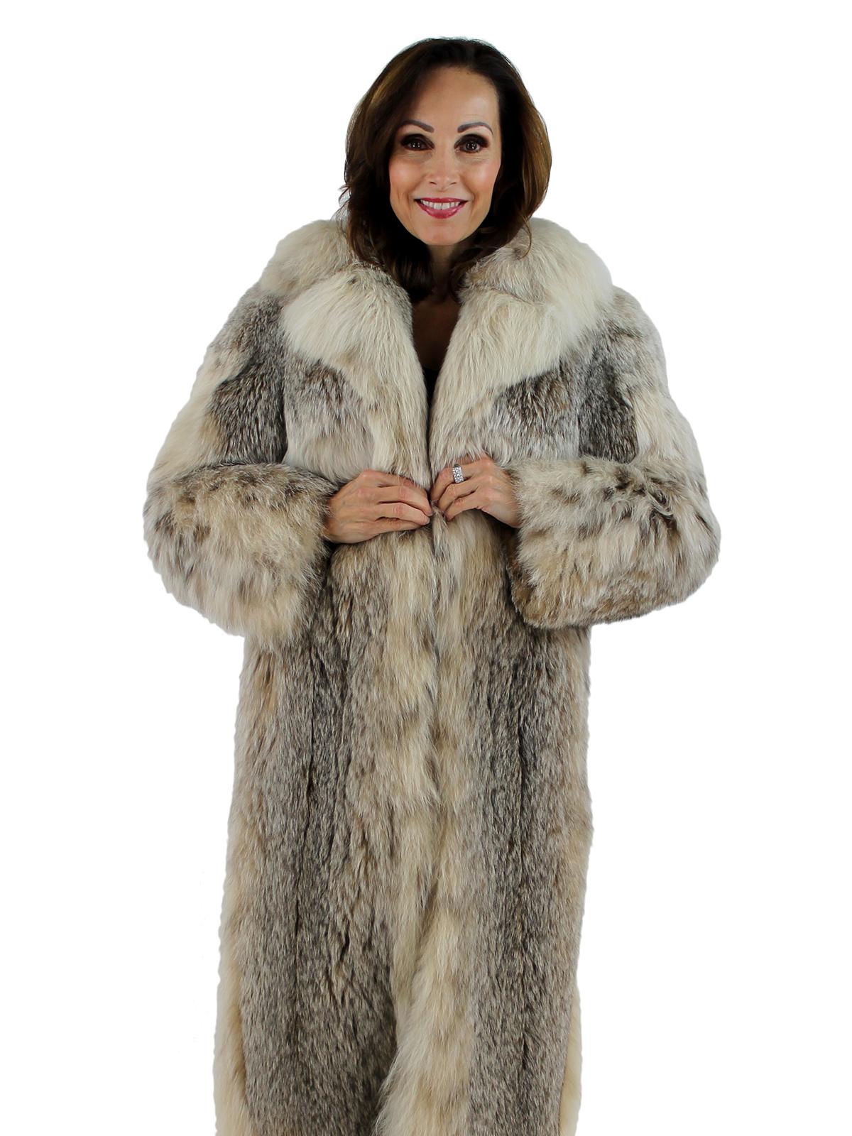 Mink Coat Value >> Natural Lynx Fur Coat - Women's Medium   Estate Furs