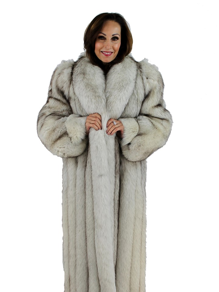 Woman's Blue Fox Fur Coat