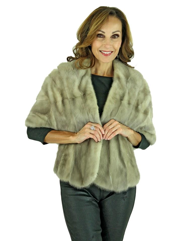 Woman's Azurene Mink Fur Stole
