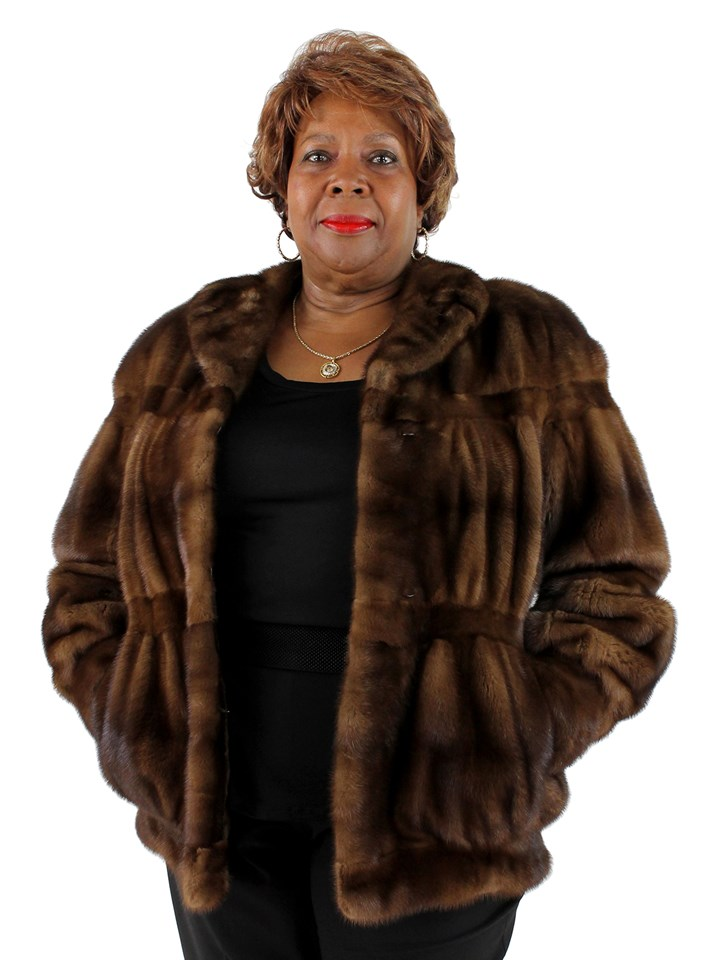 Woman's Mahogany Mink Fur Jacket
