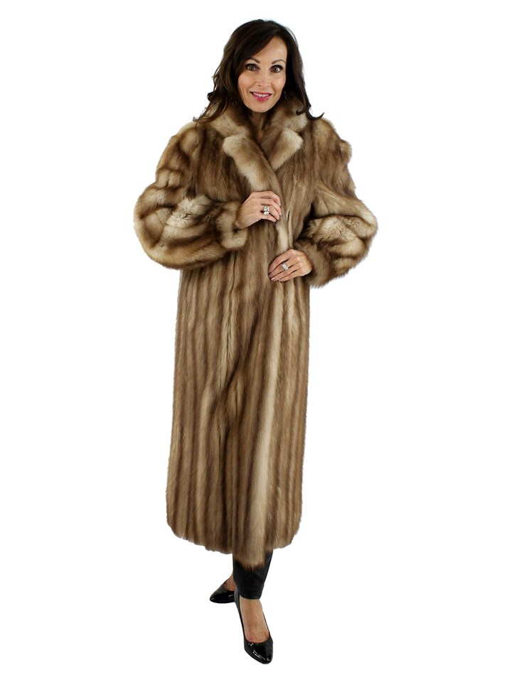 Woman's Stone Marten Fur Coat