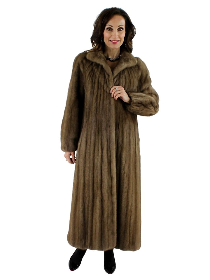 Woman's Pastel Female Mink Fur Coat