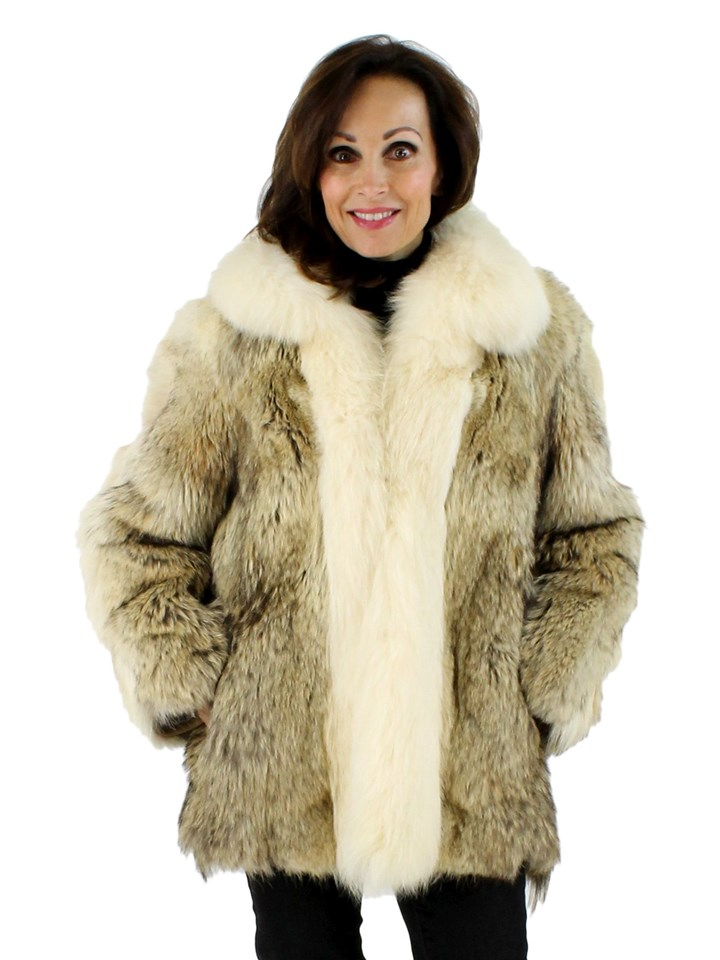 Coyote Fur Jacket with Shadow Fox