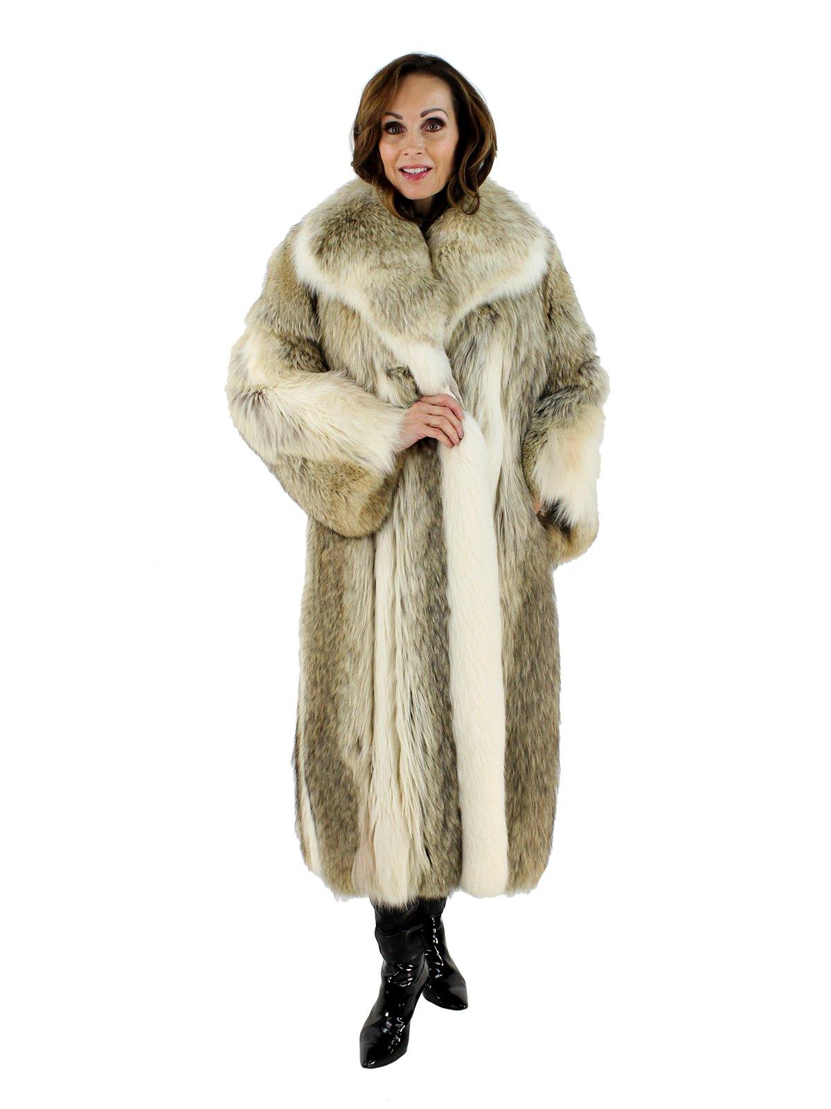 Coyote Fur Coat Womens Large Estate Furs >> Coyote Fur Coat W Shadow Fox Trim Women S Medium Estate Furs