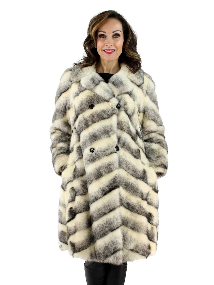 Woman's Cross Female Mink  7/8 Coat