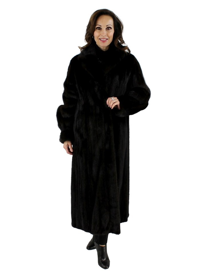 Woman's Female Ranch Mink Fur Coat
