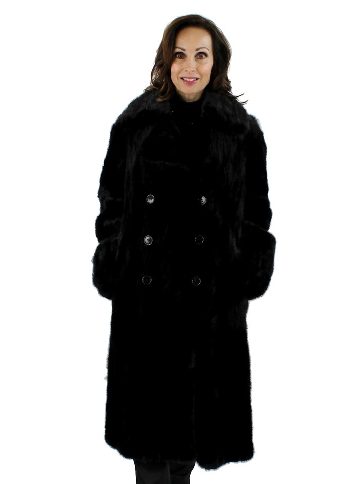 Woman's Ranch Mink Fur Section Coat