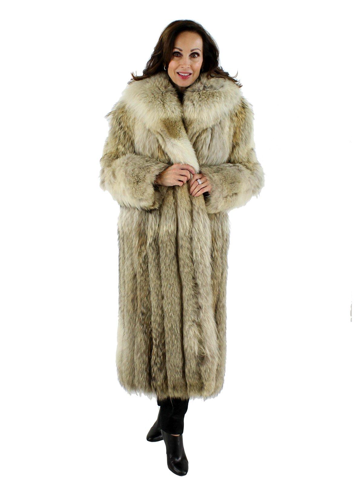 Coyote Fur Coat Womens Large Estate Furs >> Natural Coyote Fur Coat Women S Medium 42470 Estate Furs