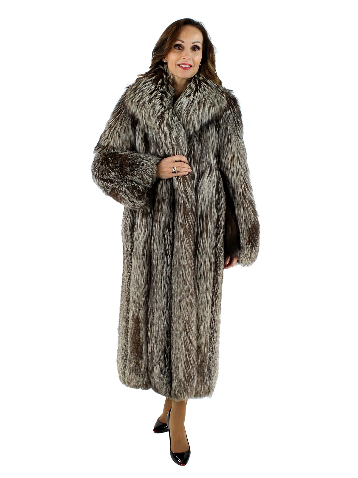 9e972dee6 Silver Fox Fur Coat - Women's Small | Estate Furs