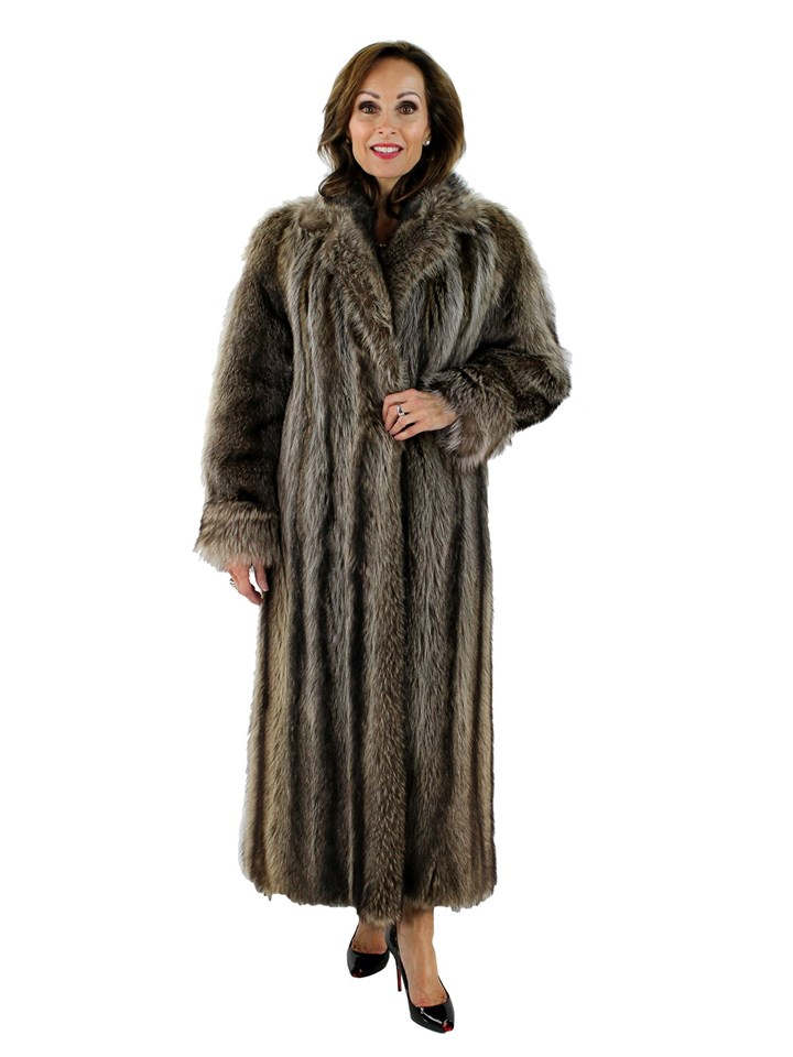 Woman's Raccoon Fur Coat