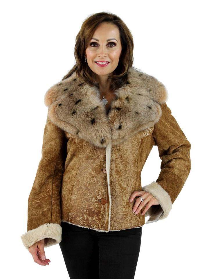 Oliveri Woman's Italian Designed Shearling Jacket