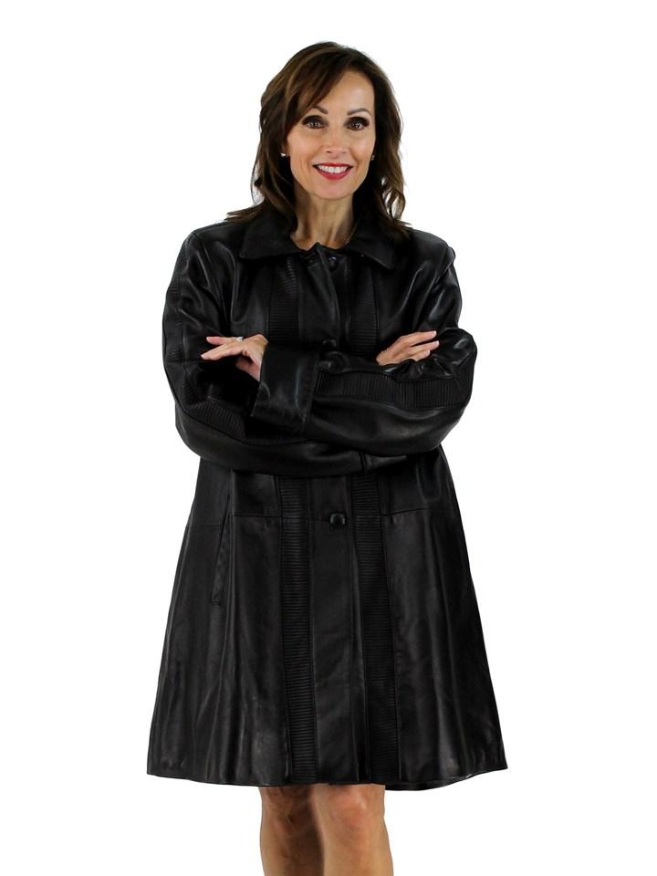 Black Lambskin Leather Stroller