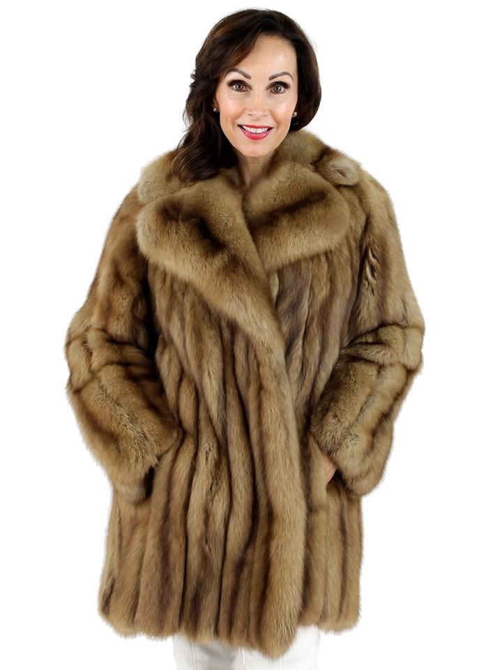 Woman's Golden Sable Fur Stroller