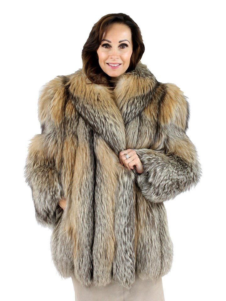 Woman's Cinnamon Fox Fur Jacket