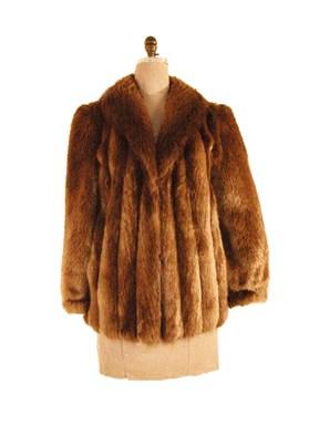 Long hair beaver jacket