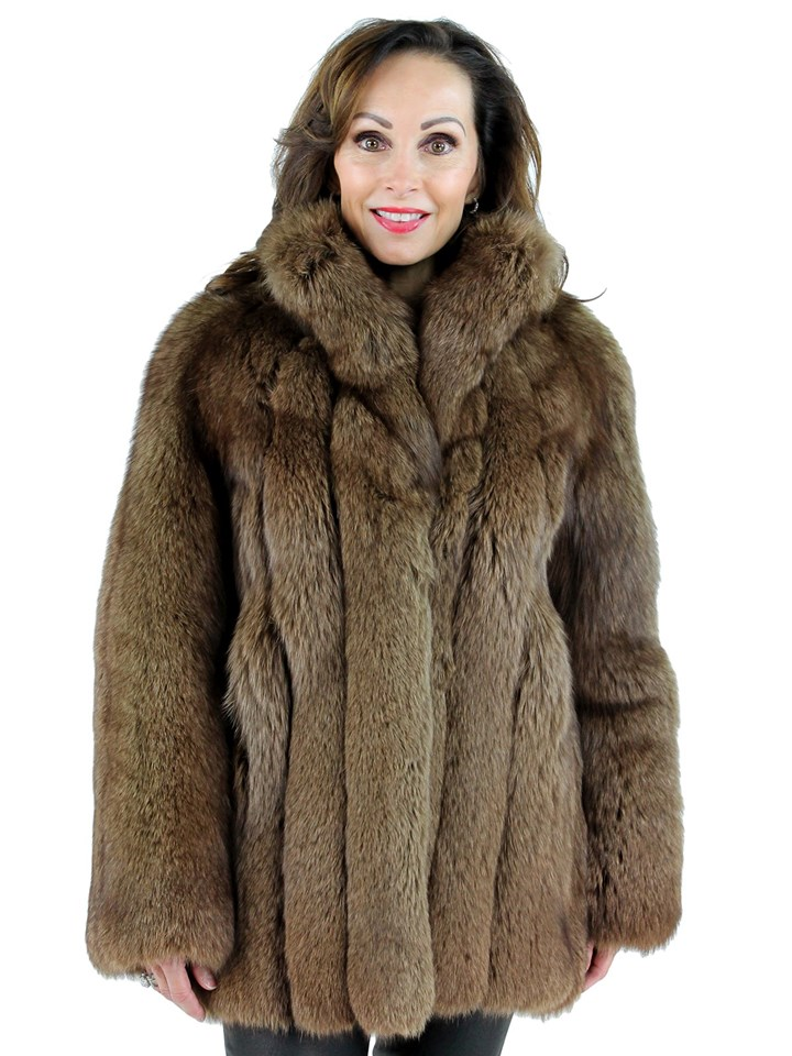 Woman's Brown Fox Fur Jacket