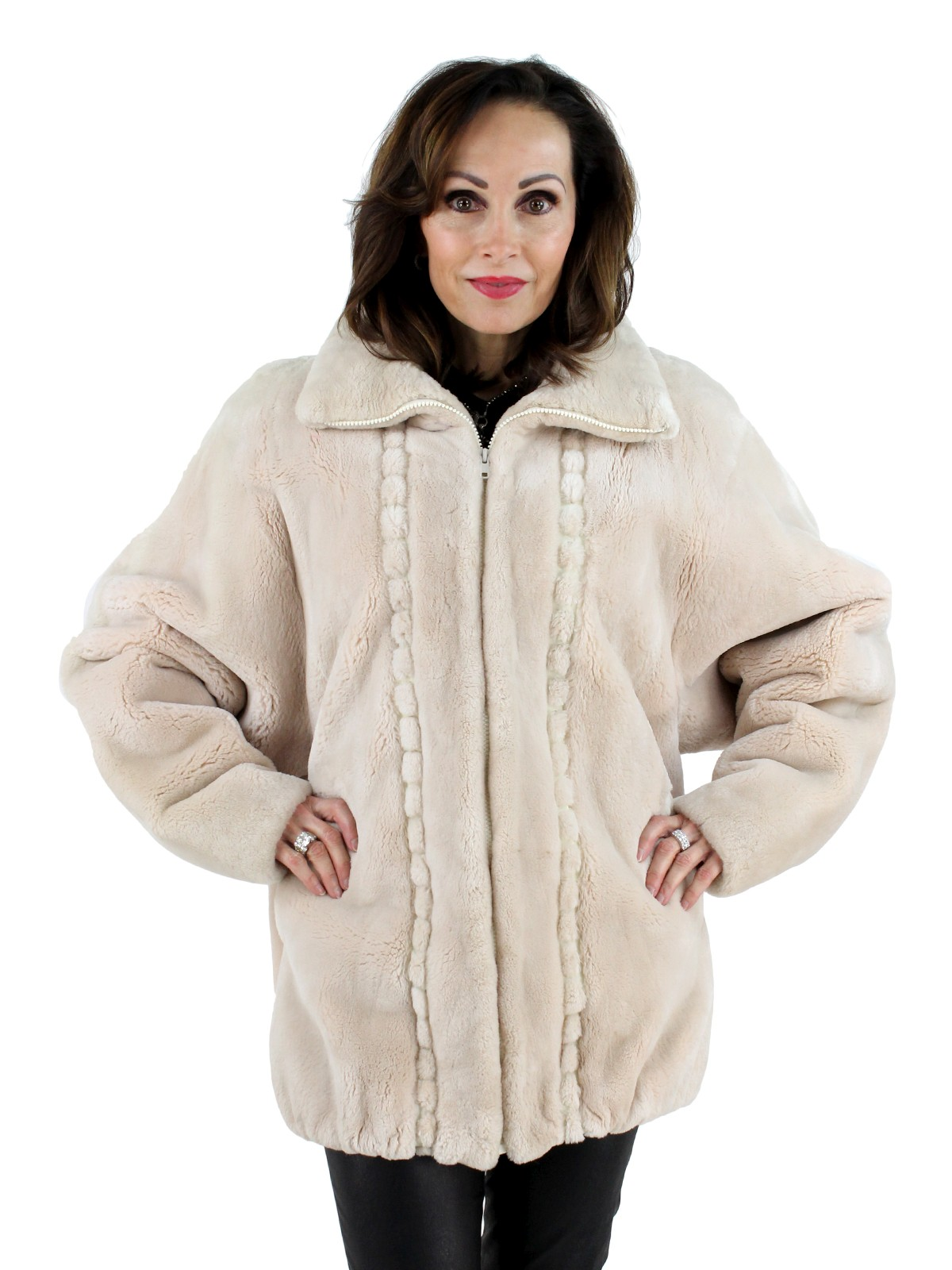 c4145df88 Musi Cashmere Sheared Beaver Fur Jacket - Women's Large| Estate Furs