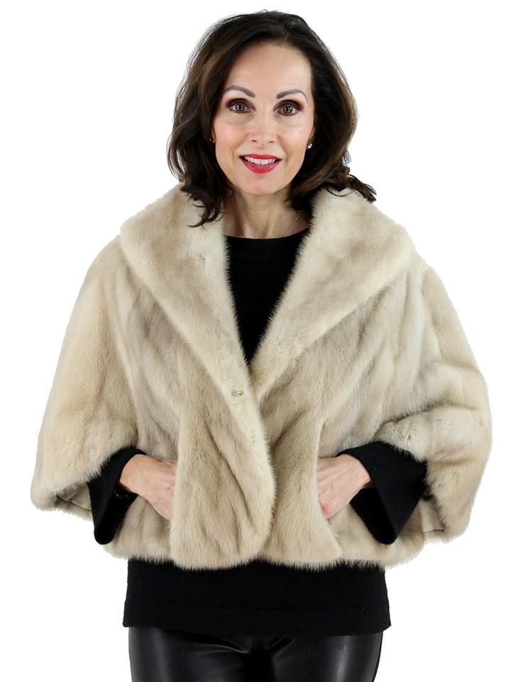 Woman's Ivory Mink Fur Stole
