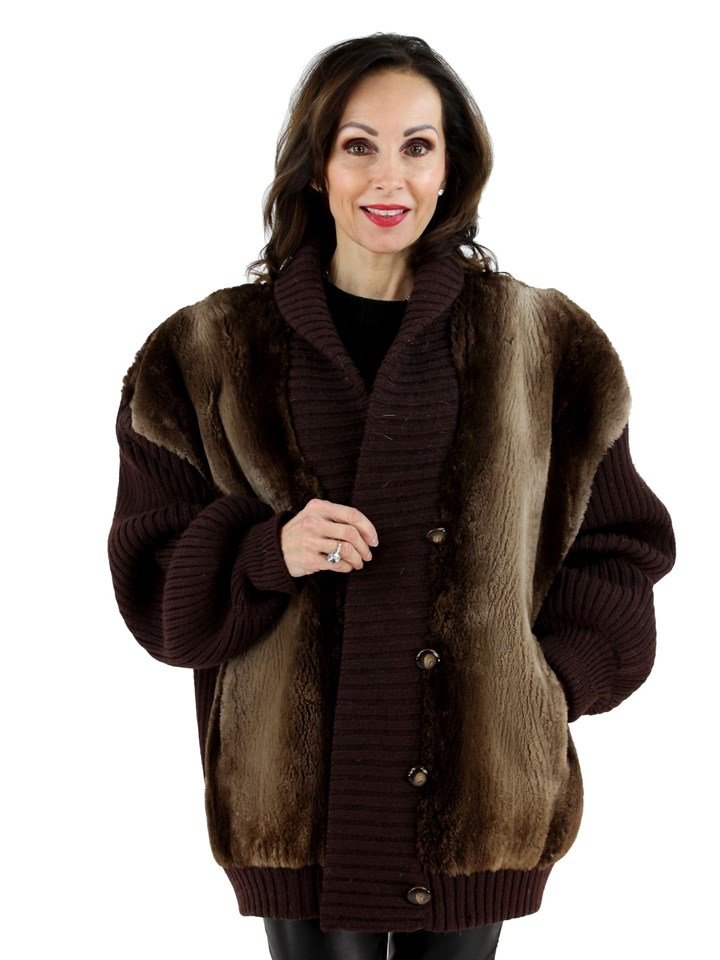 Woman's Phantom Sheared Beaver Fur Jacket