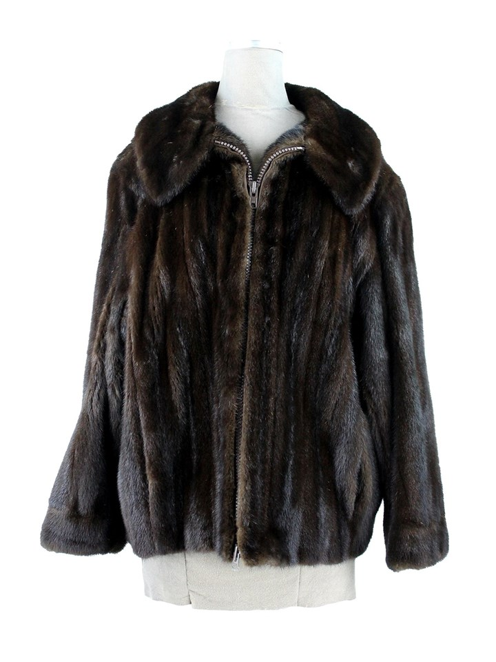 Man's Dark Mahogany Mink Fur Jacket