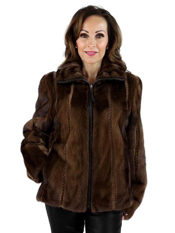 Gorski Woman's Demi Buff Female Mink Fur Jacket