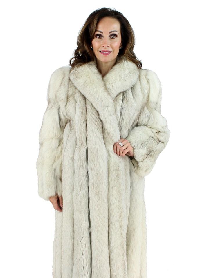 Saga Woman's Blue Fox Fur Coat