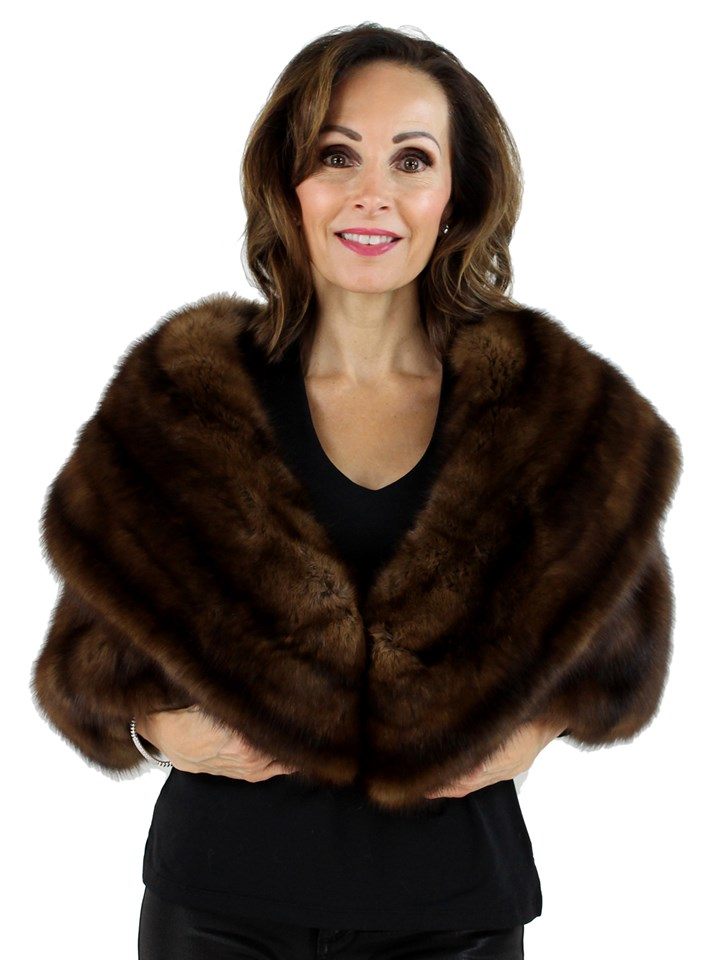 Woman's Natural Sable Fur Stole