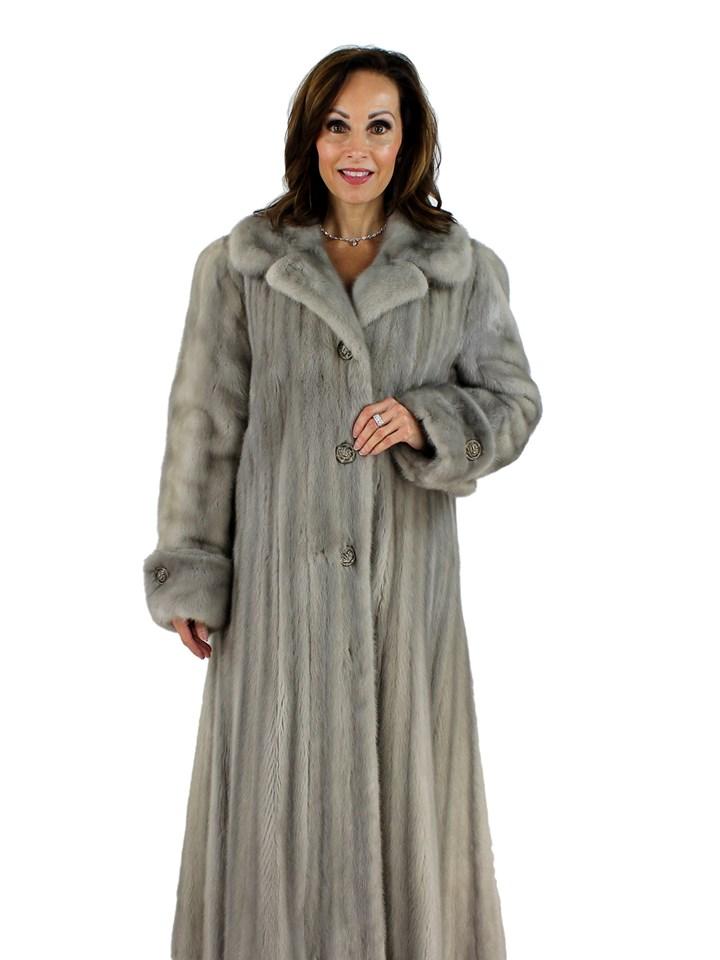 Woman's Scaasi Cerulean Female Mink Fur Coat