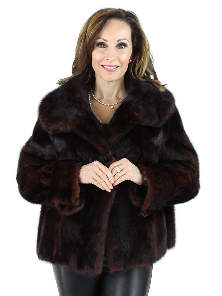 Woman's Mahogany Mink Short Fur Jacket