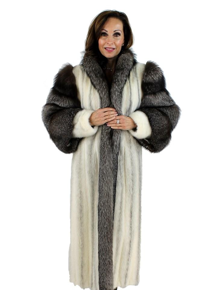 Woman's Cross Female Mink Fur Coat
