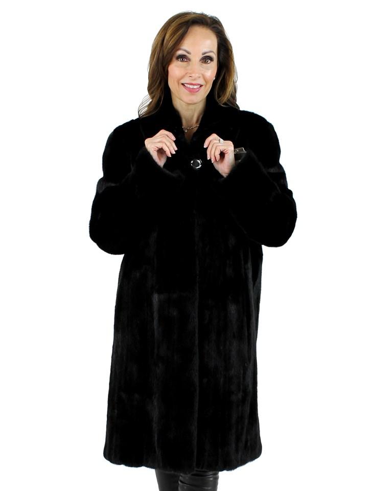 Woman's Ranch Female Mink Fur 7/8 Coat
