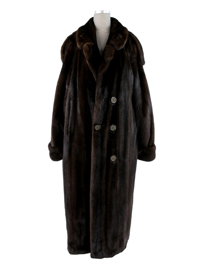 Man's Dark Mahogany Double Breasted Mink Coat