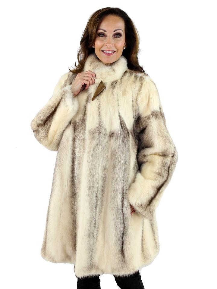 Woman's Cross Mink Fur Stroller