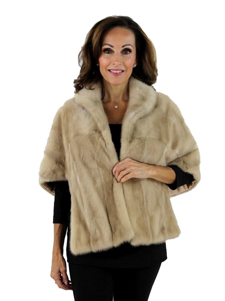 Woman's Ivory Mink Vintage Fur Stole