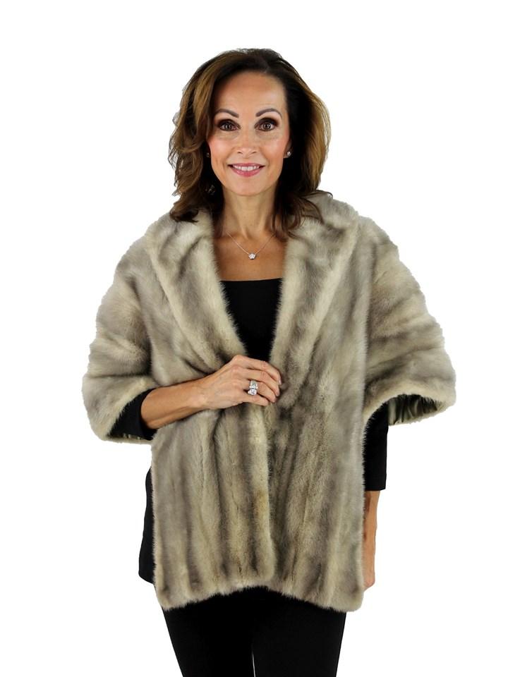 Woman's Cerulean Vintage Mink Fur Stole