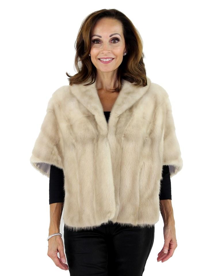 Woman's Vintage Tourmaline Mink Fur Stole