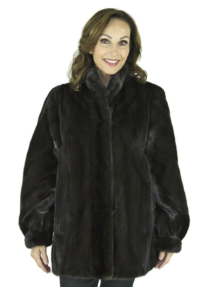 Woman's Ranch Female Mink Fur Jacket