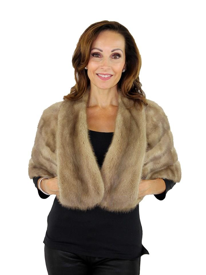 Woman's Grey Mink Fur Stole