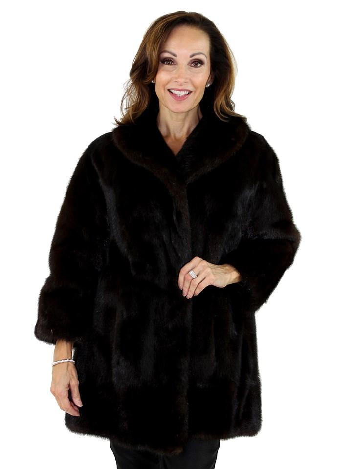 Woman's Deep Mahogany Mink Fur Stroller