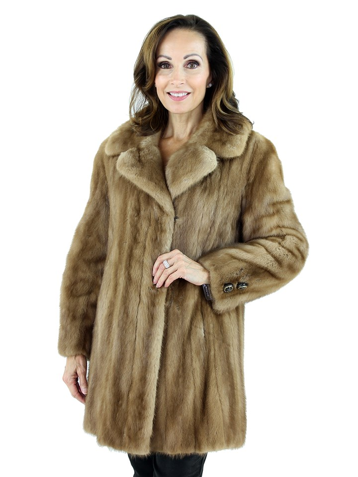 Woman's Vintage Autumn Haze Female Mink Fur Jacket