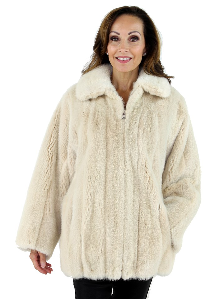Woman's Blush Female Mink Fur Jacket