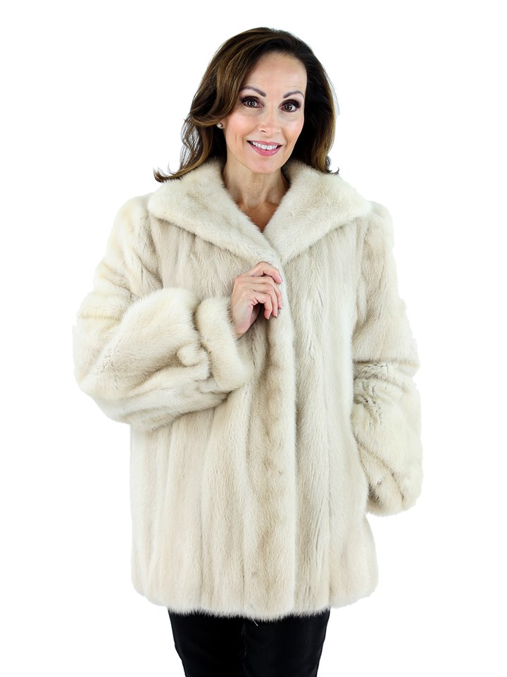 Woman's Tourmaline Mink Fur Jacket