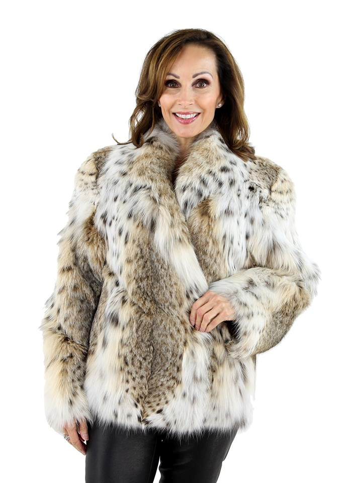 Woman's Cat Lynx Fur Jacket