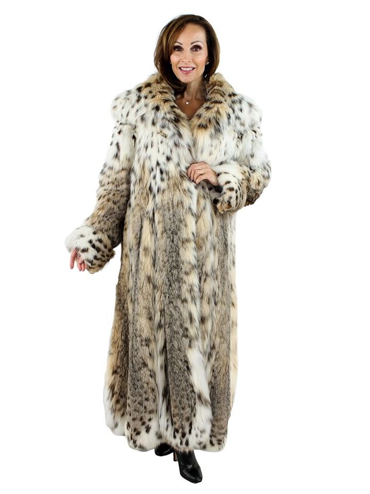 Woman's Louis Feraud Designed Cat Lynx Coat