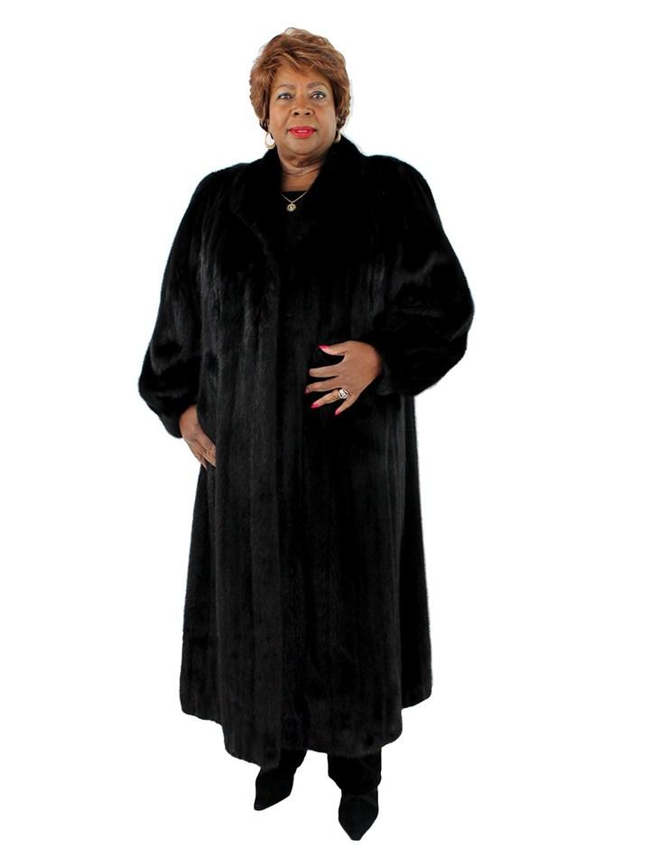Woman's Plus Size Ranchf Female Mink Fur Coat