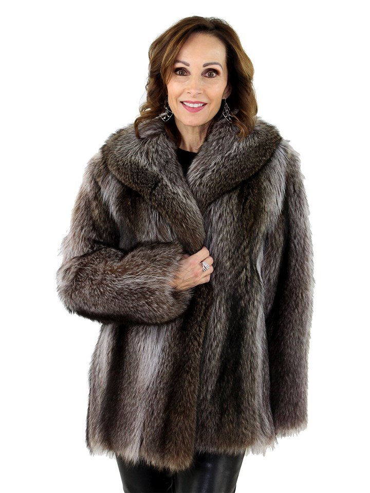 Woman's  Natural Raccoon Fur Jacket