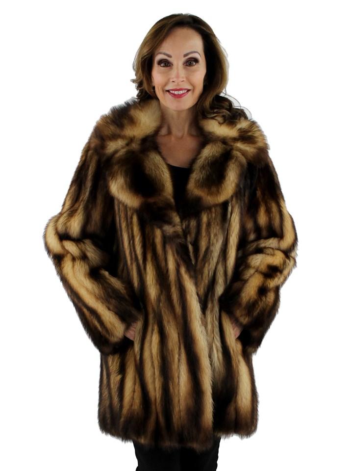 Women's Natural Fitch Fur Stroller